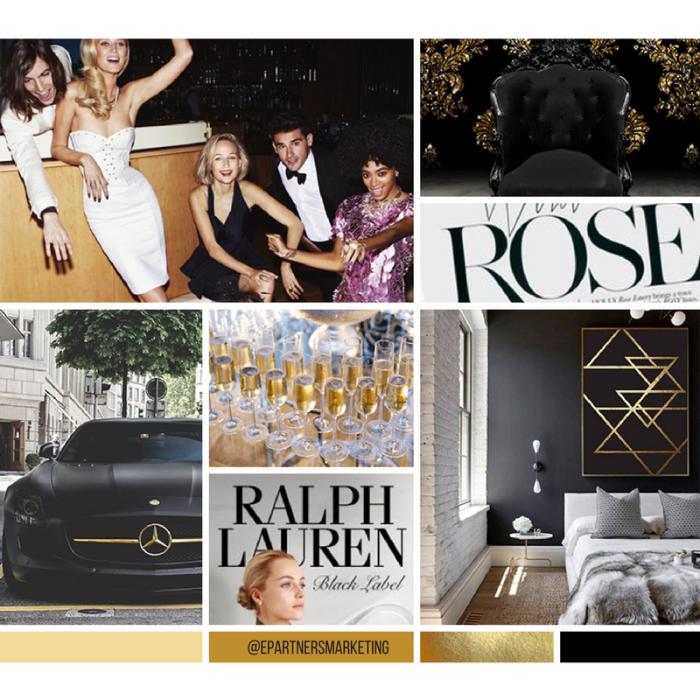 Luxury Mood Board - Inspiration - E-Partners Marketing - Custom Logo Design