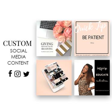 Custom Social Media Content - Etsy